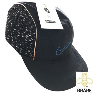 Authentic Supreme x Nike Boucle Running Hat Black